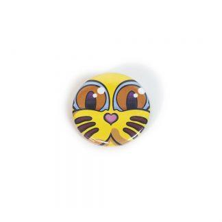 Chapa Grid Amarillo Classic Series del artista Álvaro Sánchez del Castillo del proyecto Grid el gato