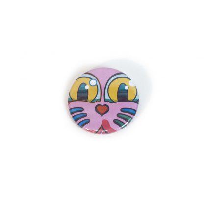 Chapa Grid Rosa Classic Series del artista Álvaro Sánchez del Castillo del proyecto Grid el gato
