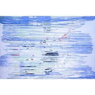 Pintura Patrón aleatorio [Blanco y Azul] del artista Álvaro Sánchez del Castillo del proyecto Repetition Ways