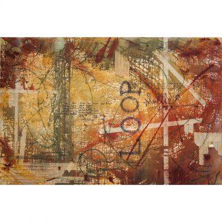 Pintura Retícula reguladora I del artista Álvaro Sánchez del Castillo del proyecto Repetition Ways