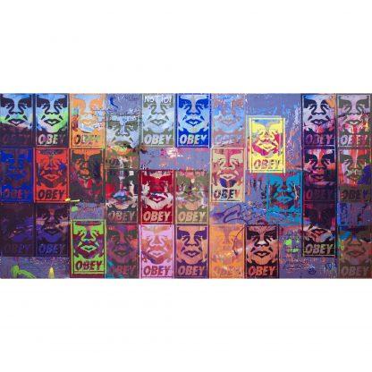 Pintura Shepard Fairey was not here. But this is Obey. del artista Álvaro Sánchez del Castillo del proyecto Repetition Ways