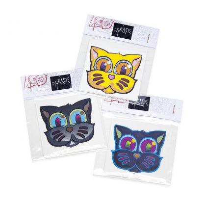 Pack de pegatinas Grid Basic Edition 03 del artista Álvaro Sánchez del Castillo del proyecto Grid el gato
