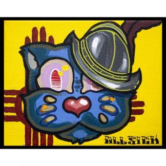 Pintura Grid X Pato Conquistando del artista Álvaro Sánchez del Castillo del proyecto Grid el gato