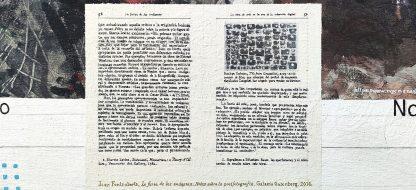 Detalle La furia de las imágenes Fontcuberta de la pintura #random 01 del artista Álvaro Sánchez del Castillo del proyecto La furia del hashtag: pinturas sobre postfotografias
