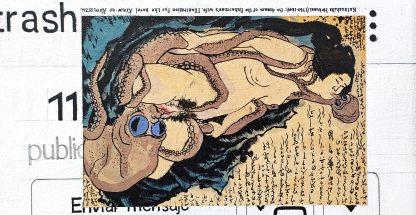 Detalle The dream of the fisherman's wife de la pintura #random 01 del artista Álvaro Sánchez del Castillo del proyecto La furia del hashtag: pinturas sobre postfotografias