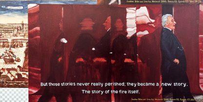 Detalle Westworld Gran Biblioteca 02 de la pintura #story #fire del artista Álvaro Sánchez del Castillo del proyecto La furia del hashtag: pinturas sobre postfotografias