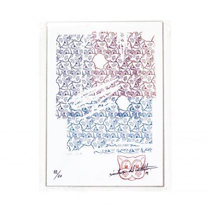 Lámina Grid 01 Mosaic Series 01 del artista Álvaro Sánchez del Castillo del proyecto Grid el gato