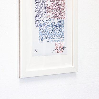 Lámina Grid 01 Mosaic Series 06 del artista Álvaro Sánchez del Castillo del proyecto Grid el gato