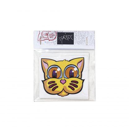 Pack de pegatinas Grid Basic Edition 01 del artista Álvaro Sánchez del Castillo del proyecto Grid el gato