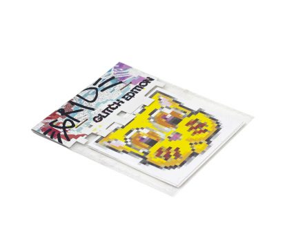 Pack de pegatinas Grid Glitch Edition 02 del artista Álvaro Sánchez del Castillo del proyecto Grid el gato